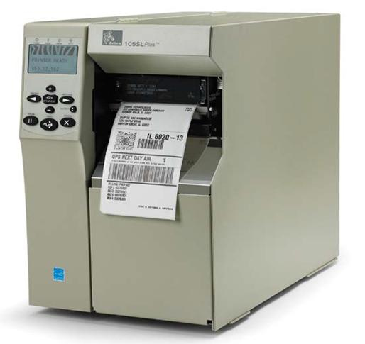 ZEBRA 105SLPLUS DIRECT THERMAL / TRANS 300 X 300DPI LABEL PRINTER