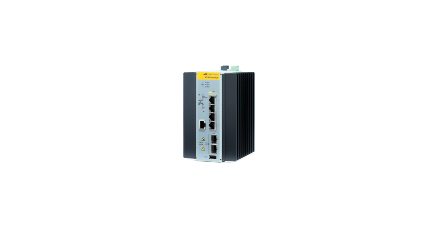 ALLIED TELESIS AT-IE200-6GP-80 MANAGED INDUSTRIAL SWITCH WITH 2 X 100 - 1000 SFP, 4 10 1000T POE+
