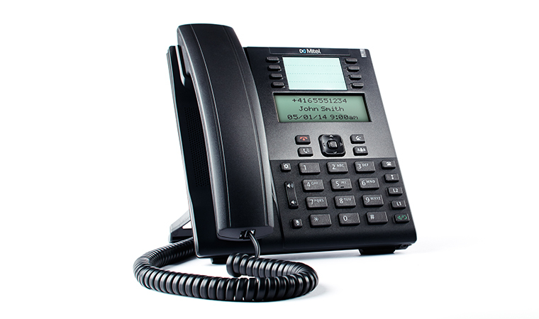 MITEL 80C00001AAA-A WIRED HANDSET 9LINES LCD BLACK IP PHONE