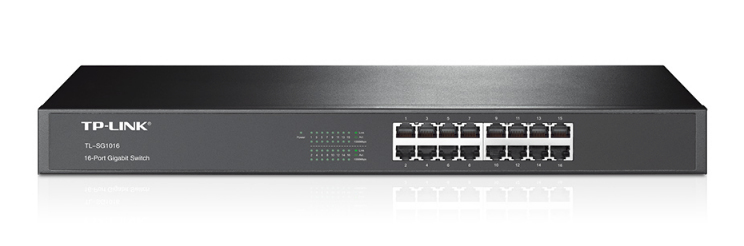 TP-LINK 16-PORT GIGABIT SWITCH UNMANAGED NETWORK BLACK