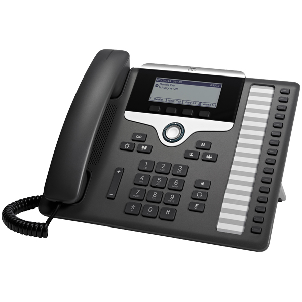 CISCO CP-7861-K9= 7861 WIRED HANDSET 16LINES LCD BLACK, SILVER IP PHONE