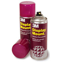 3M DISPLAYMOUNT ADHESIVE SPRAY CAN INSTANT HOLD CFC-FREE 400ML DMOUNT