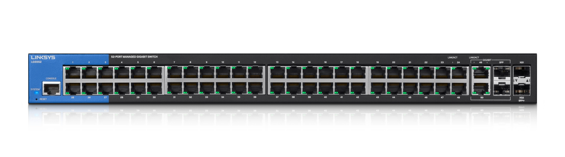 LINKSYS 52-PORT MANAGED GIGABIT SWITCH (LGS552)