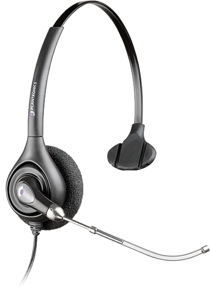PLANTRONICS 87128-02 SUPRAPLUS MONAURAL HEAD-BAND BLACK HEADSET