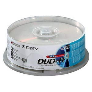 SONY DVD+R 16X, 25 4.7GB 25PC(S)