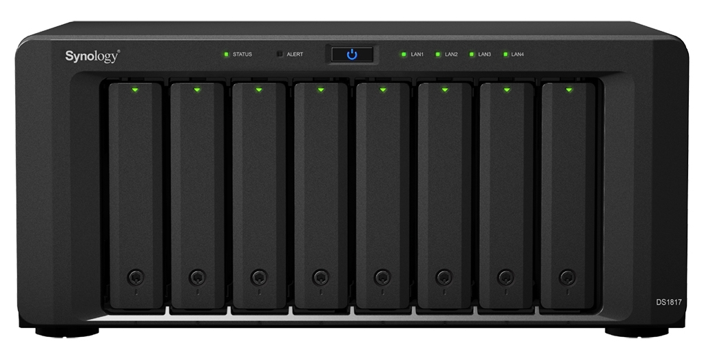 SYNOLOGY DS1817 64TB (8 X 8TB SEAGATE IRONWOLF HDD) NAS DESKTOP ETHERNET LAN BLACK