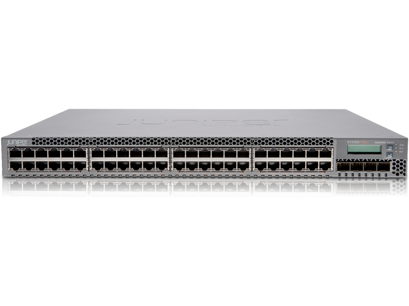 JUNIPER EX3300, 48-PORT POE+ MANAGED NETWORK SWITCH L2/L3 10G ETHERNET (100/1000/10000) POWER OVER (POE) 1U BLACK