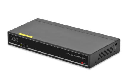 DIGITUS DN-95323 FAST ETH POE+ SWITCH 8X10 - 100