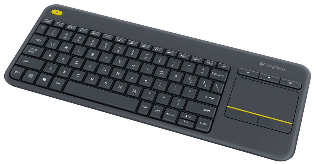 LOGITECH K400 PLUS RF WIRELESS QWERTY PAN NORDIC BLACK