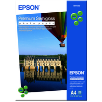 EPSON PREMIUM SEMIGLOSS PHOTO PAPER, DIN A4, 251G/M, 20 SHEETS