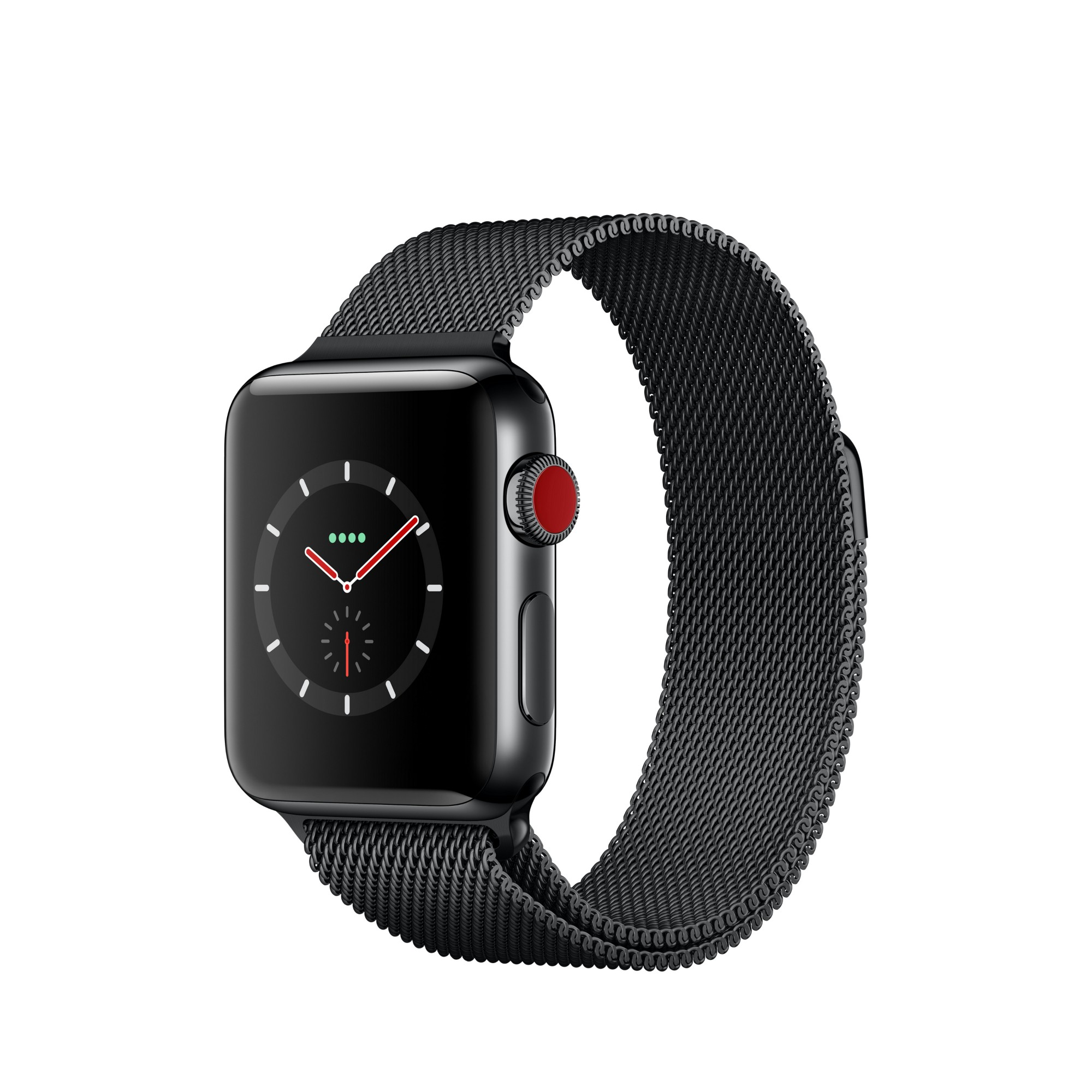 APPLE WATCH SERIES 3 OLED GPS (SATELLITE) CELLULAR BLACK SMARTWATCH