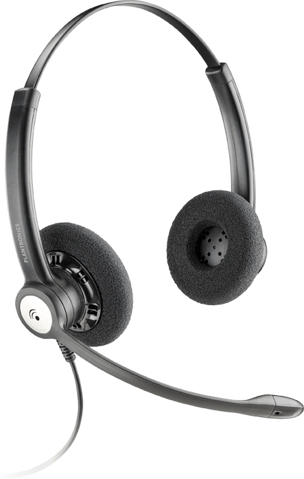 PLANTRONICS 79181-13 ENTERA HW121N BINAURAL HEAD-BAND BLACK HEADSET