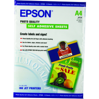 EPSON PHOTO QUALITY INK JET PAPER SELF-ADHESIVE, DIN A4, 167G/M, 10 SHEETS