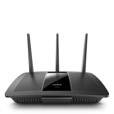 LINKSYS AC1900 DUAL-BAND (2.4 GHZ / 5 GHZ) GIGABIT ETHERNET BLACK WIRELESS ROUTER