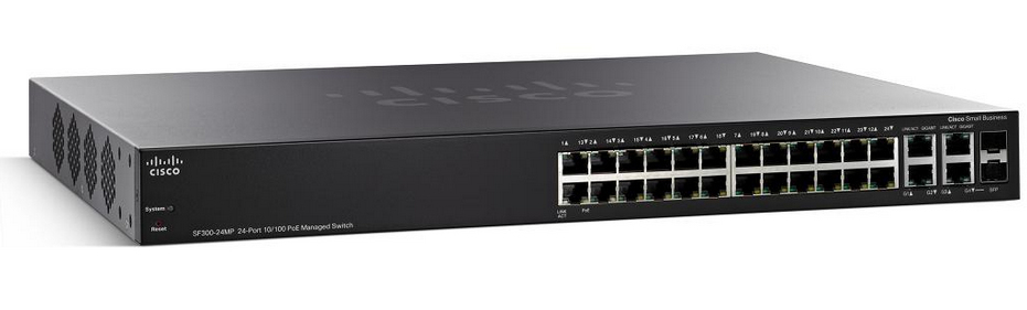 CISCO SF300-24PP-K9-UK SMALL BUSINESS SF300-24PP MANAGED NETWORK SWITCH L3 FAST ETHERNET (10 - 100) POWER OVER (POE) BLACK