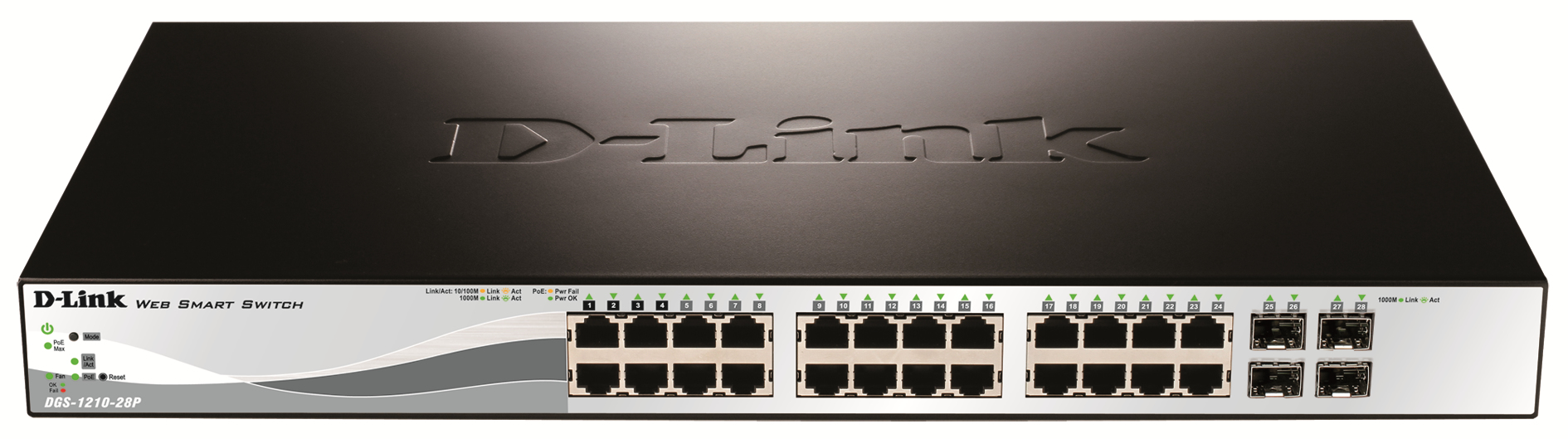 D-LINK DGS-1210-28P MANAGED NETWORK SWITCH L2 POWER OVER ETHERNET (POE) 1U