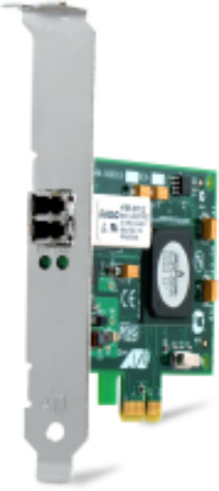 ALLIED TELESIS SINGLE PORT FIBER GIGABIT NIC FOR 32-BIT PCIE X1 BUS, LC CONNECTOR