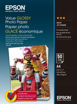 EPSON VALUE GLOSSY PHOTO PAPER A4 (210297 MM) GLOSS MULTICOLOUR