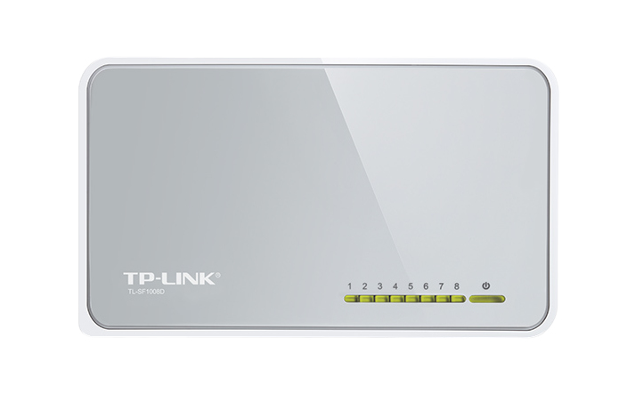 TP-LINK 8-PORT 10/100MBPS DESKTOP SWITCH UNMANAGED NETWORK WHITE