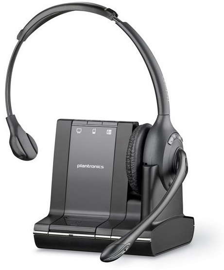 PLANTRONICS 83545-12 SAVI W710 MONAURAL HEAD-BAND BLACK HEADSET