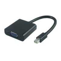 MICROCONNECT MDPVGA2B MINI DISPLAYPORT-VGA M-F BLACK