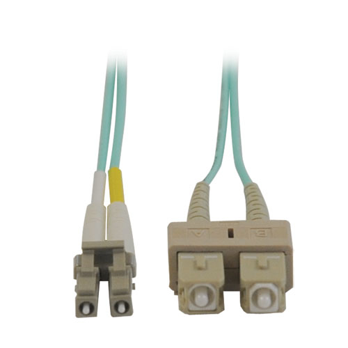 TRIPP LITE 10GB DUPLEX MULTIMODE 50/125 OM3 LSZH FIBER PATCH CABLE (LC/SC) - AQUA, 3M