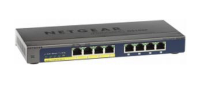 NETGEAR GS108PP UNMANAGED GIGABIT ETHERNET POWER OVER (POE) BLACK