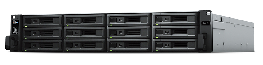 SYNOLOGY RX1217RP/72TB-EXOS NETWORK ATTACHED STORAGE (NAS)