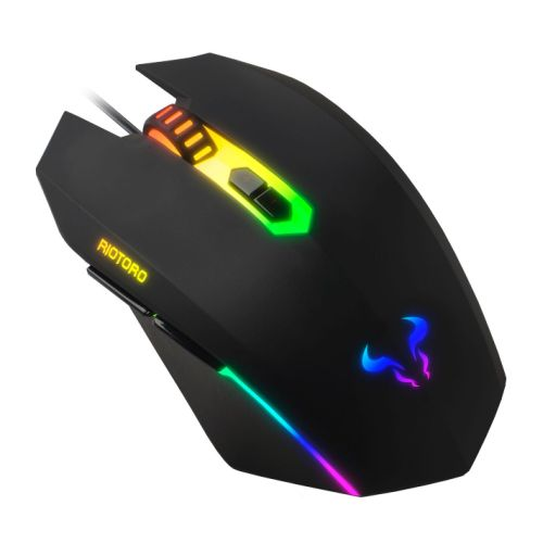 RIOTORO MR-600C URUZ Z5 CLASSIC WIRED OPTICAL RGB GAMING MOUSE, 4000 DPI, 6 PROGRAMMABLE BUTTONS