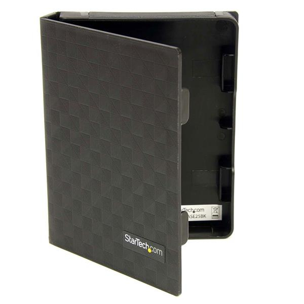 STARTECH HDDCASE25BK 2.5IN ANTI-STATIC HARD DRIVE PROTECTOR CASE - BLACK (3PK) 2.5 HDD