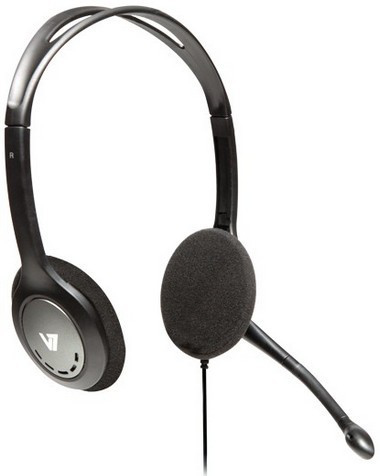 V7 HA201-2EP LIGHTWEIGHT STEREO HEADSET