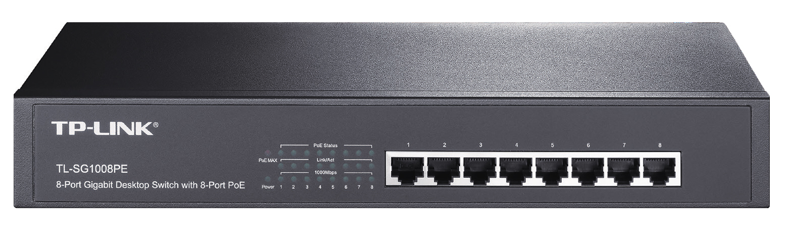 TP-LINK TL-SG1008PE UNMANAGED NETWORK SWITCH