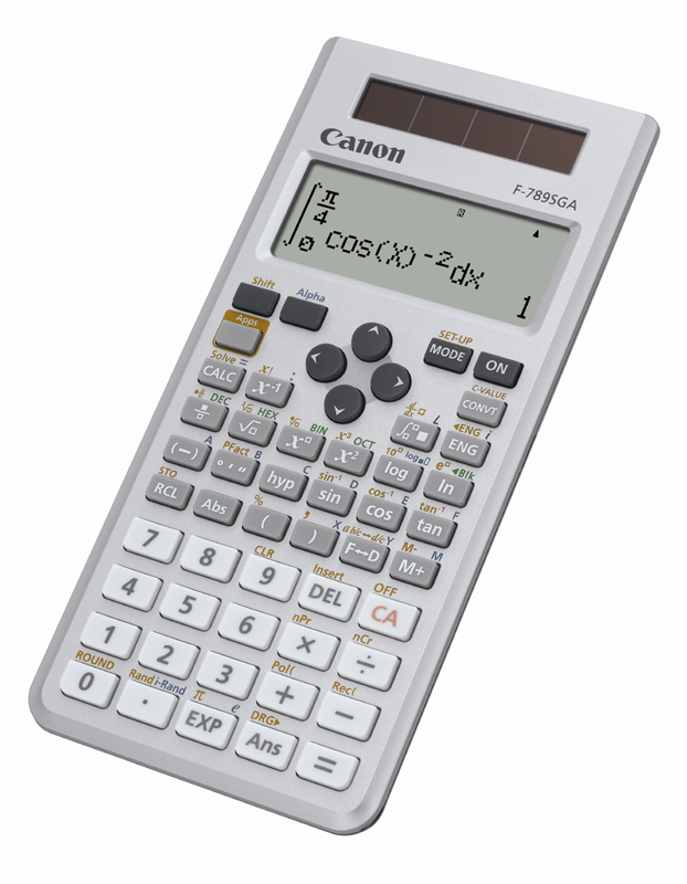 CANON F-789SGA POCKET DISPLAY GREY CALCULATOR