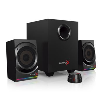 CREATIVE LABS SOUNDBLASTERX KRATOS S5 2.1 GAMING SPEAKER SYSTEM WITH CUSTOMIZABLE RGB LIGHTING