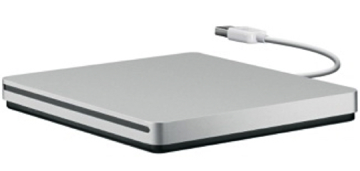 APPLE USB SUPERDRIVE DVDR/RW SILVER OPTICAL DISC DRIVE