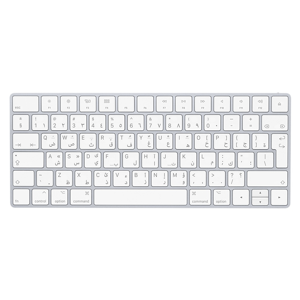 APPLE MQ5L2AB/A BLUETOOTH QWERTY ARABIC WHITE KEYBOARD