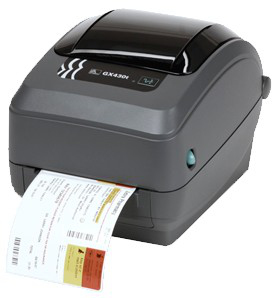 ZEBRA GX430T DIRECT THERMAL / TRANS 300 X 300DPI LABEL PRINTER