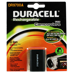 DURACELL CAMCORDER BATTERY 7.4V 650MAH LITHIUM-ION (LI-ION) RECHARGEABLE