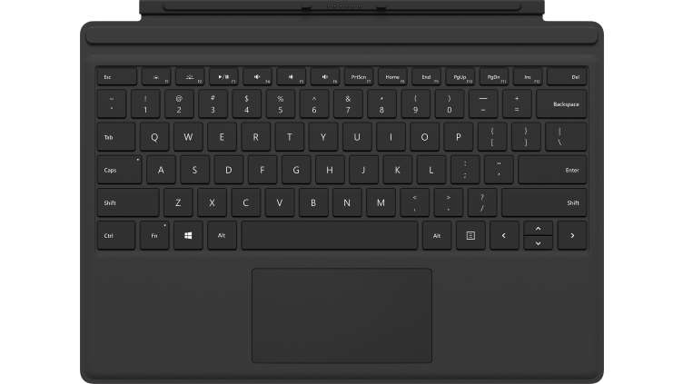 MICROSOFT FMN-00007 SURFACE PRO TYPE COVER PORT QWERTY ENGLISH BLACK MOBILE DEVICE KEYBOARD