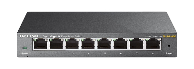TP-LINK TL-SG108E L2 GIGABIT ETHERNET (10/100/1000) BLACK NETWORK SWITCH