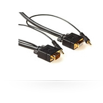 MICROCONNECT MONGH3BMJ 3M, HD15 - 3.5MM 3M VGA (D-SUB) + BLACK