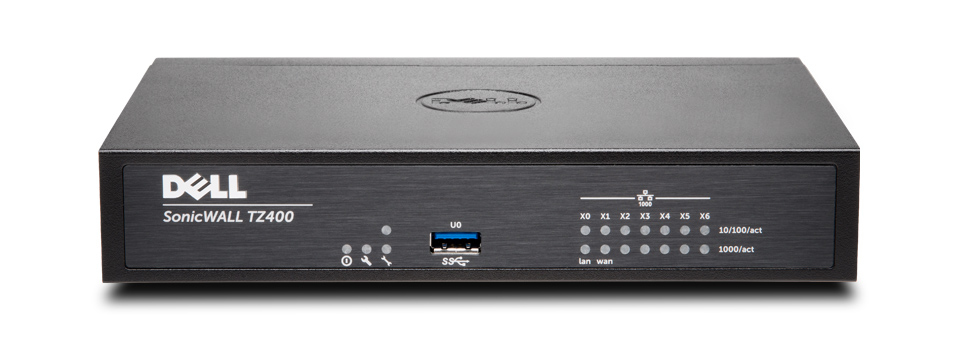 DELL SONICWALL TZ400 + TOTALSECURE 1Y 1300MBIT/S HARDWARE FIREWALL