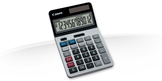 CANON KS-1220TSG DESKTOP BLACK, BLUE, RED, SILVER CALCULATOR