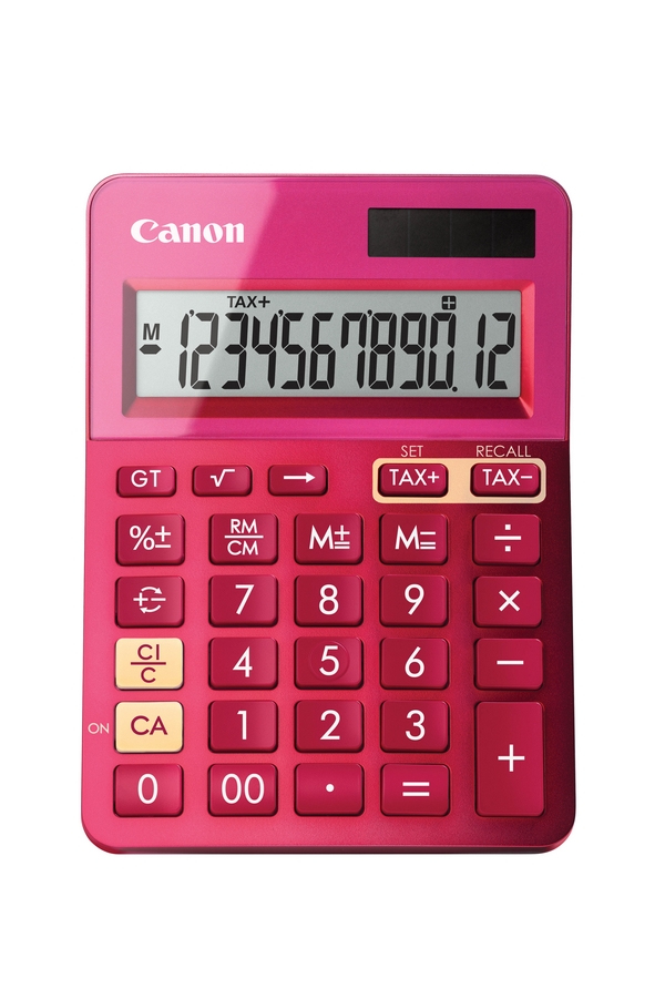CANON LS-123K DESKTOP BASIC PINK CALCULATOR