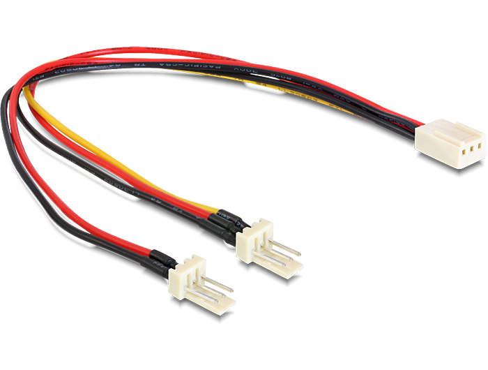 DELOCK 89343 CABLE MOLEX 3 PIN FEMALE > 2 X MALE (FAN) 22 CM
