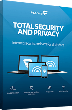 F-SECURE FCFTBR1N003G1 TOTAL SECURITY AND PRIVACY 1YEAR(S) MULTILINGUAL