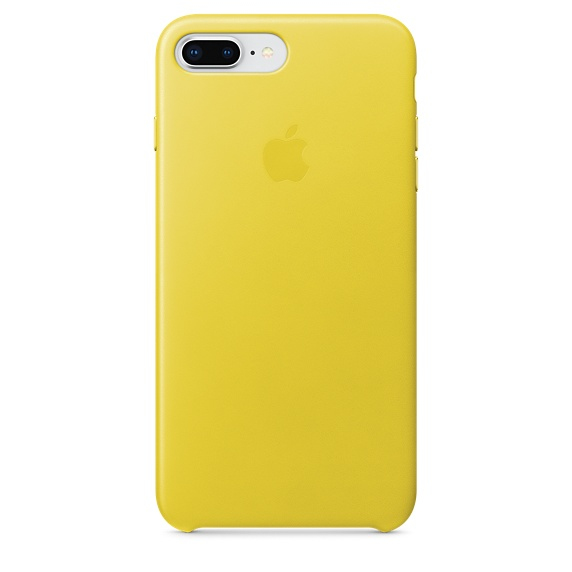 APPLE IPHONE 8 PLUS / 7 LEATHER CASE - SPRING YELLOW