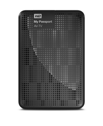 WESTERN DIGITAL MY PASSPORT AV-TV 1TB 1000GB BLACK EXTERNAL HARD DRIVE