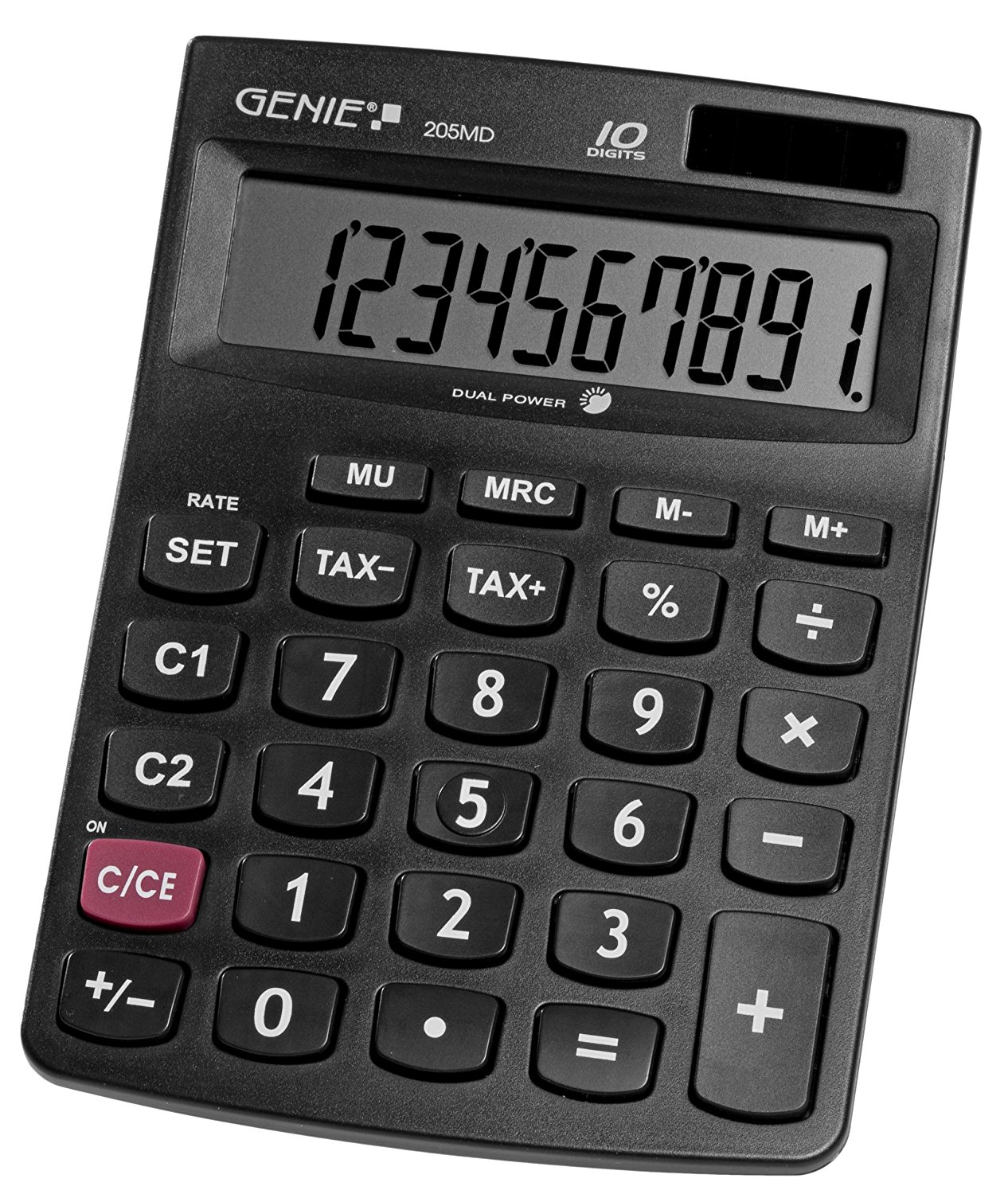 GENIE CCTV 12030G VALUE 205MD 10-DIGIT DESKTOP CALCULATOR 12030