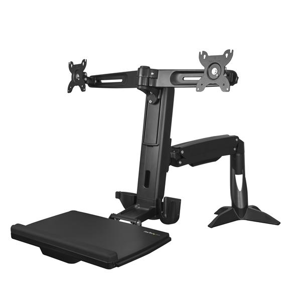 STARTECH ARMSTSCP2 SIT-STAND DUAL-MONITOR ARM